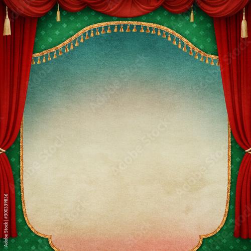 Naklejki do przedszkola  fantasy-bright-frame-illustration-or-poster-for-invitation-wedding-india