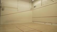 Squash Court Inside A Gym