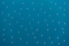 Aerial View Of Wind Turbines I...