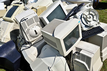 Pile Of Old Computer Monitors ...