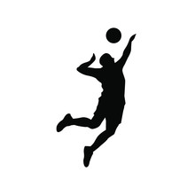 Volleyball Player Silhouette I...