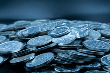 Close Up Of Coins To Stack Of ...