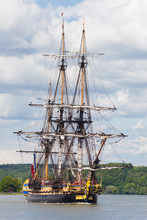 Tall Ship Hermione Sailing On ...