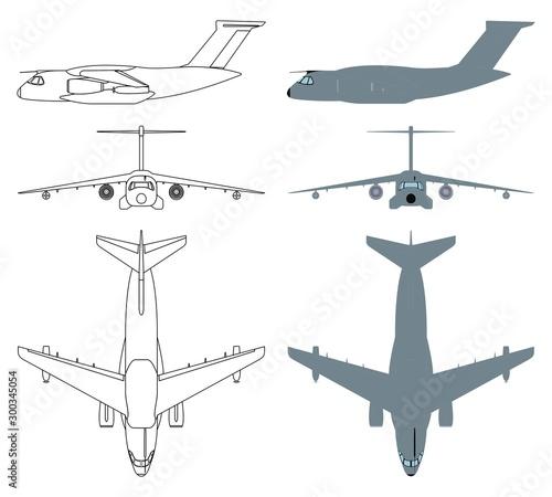 Brazilian military aircraft colored. Fototapet