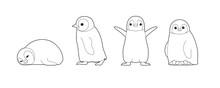 Baby Penguin Cute Cartoon Vect...