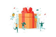 Online Reward , Group Of Happy...