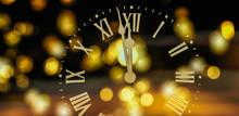 Golden Clock 2020 Just Before Midnight