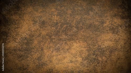 Obraz old brown dark rustic leather - background banner  - fototapety do salonu