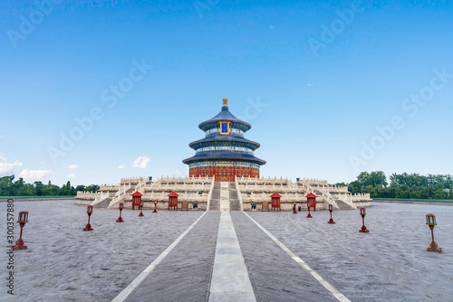 Keuken foto achterwand Temple The architectural scenery of the temple of heaven in Beijing, China