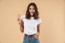 Portrait Of A Lovely Young Girl Wearing Casual Clothing