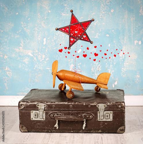Obraz na plátně  Urlaubsreise an Weihnachten