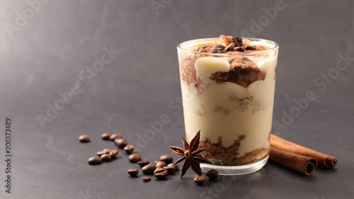 tiramisu with mascarpone and coffee