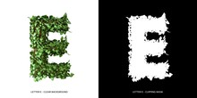 Letter E Uppercase With Tree S...
