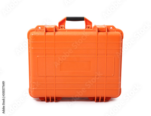Fotografie, Tablou  Hard Shell Waterproof Case. Isolated with handmade clipping path.