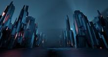 Sci-fi Dark Landscape Metal Bl...