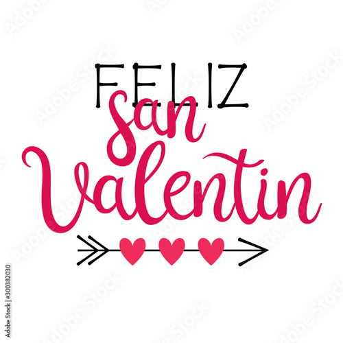 Fotomural Happy Valentine's Day lettering in Spanish