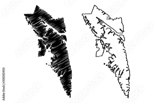 City and Borough of Sitka, Alaska (Boroughs and census areas in Alaska, United States of America,USA, U Tablou Canvas