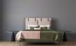 Leinwanddruck Bild Modern minimalbedroom interior design and concrete wall background