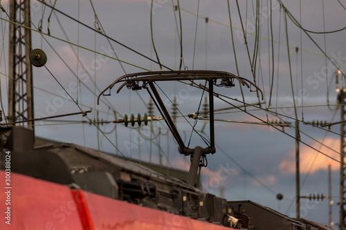 Fényképezés track pantograph overhead line