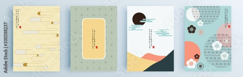 Fotomural  Modern abstract covers set, minimal covers design