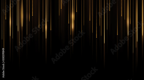 Fototapeta Abstract futuristic light on black background obraz