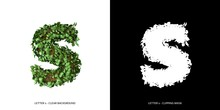 Letter S Lowercase With Tree S...
