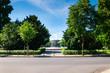 Dresden Albertplatz  - Stadt Park Sommer 1