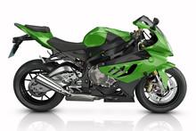 Green Sport Motorcycle.