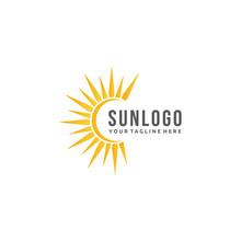 Sun Logo Design Vector With Sh...
