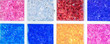 canvas print picture - colorful aquarim decoratives items in PlasticA