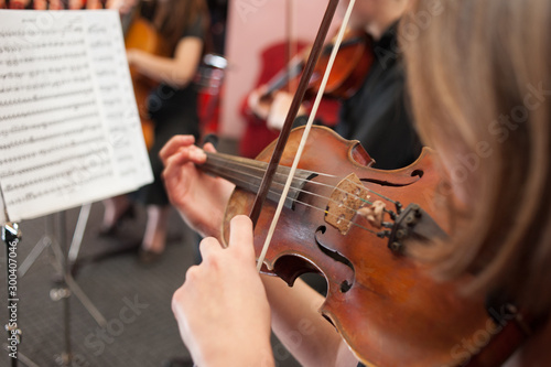 Music School on the violin is one of the most popular instruments - 300407046