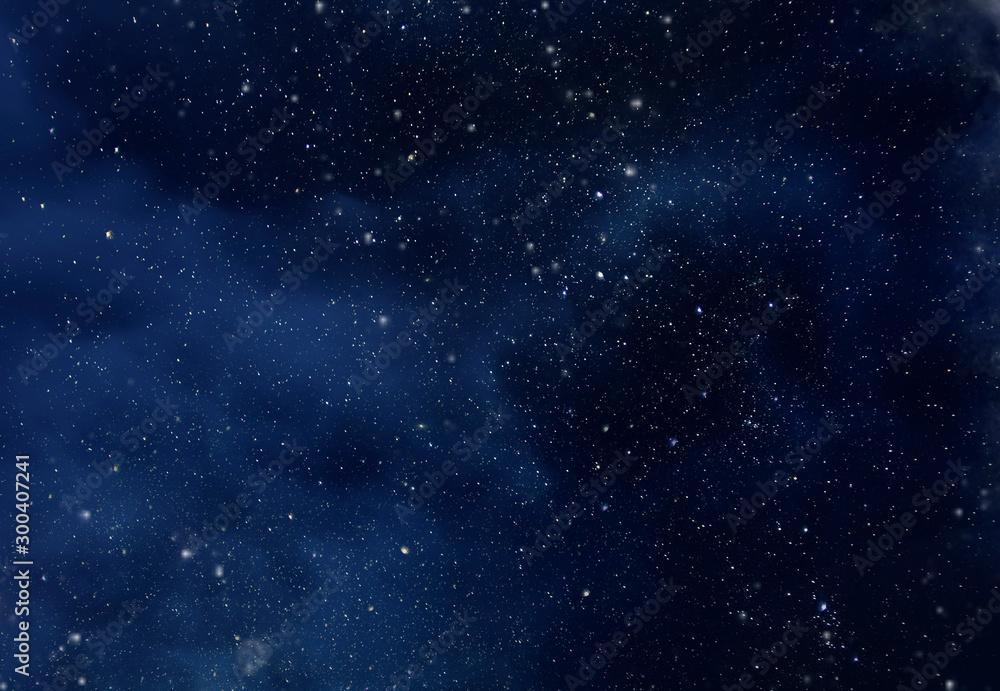 Fototapety, obrazy: Starry Sky with Stars