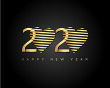 Gold Happy New Year 2020 With ...