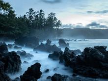 Hana Coastline At Sunset, Maui