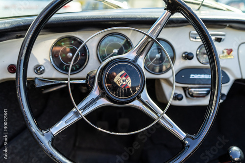 Fototapeta  Interior of sports car Porsche 356B, on May 06, 2018 in Berlin, Germany