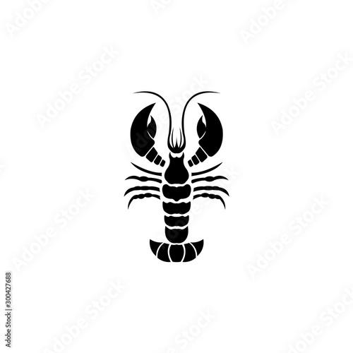 Fotografiet Shrimp menu logo,  logo of shrimp shop,shrimp restaurant logo design vector temp