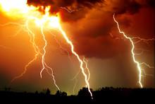 Lightning Strike On The Dark C...