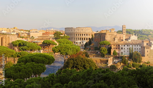 Panoramic view of Rome Canvas Print