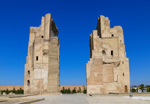 Aк-Saray, The Grandiose Ruined Residence Of Timur In The City Of Shahrisabz. Uzbekistan