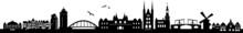 Amsterdam City Skyline Vector Silhouette