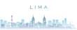 Lima Transparent Layers Gradient Landmarks Skyline
