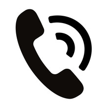 Simple Black Telephone Call Sy...