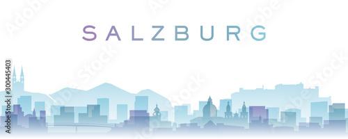 Fényképezés Salzburg Transparent Layers Gradient Landmarks Skyline