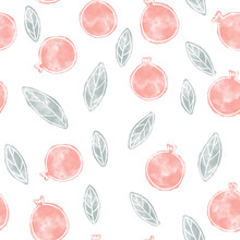 Pomegranate Seamless Pattern. Surface Design For Wallpapers And Textile Products.