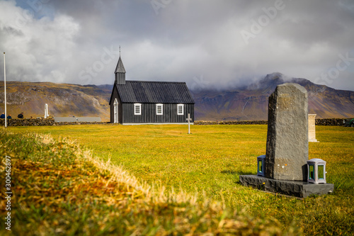 The Black Church of Budir in Iceland Fototapeta