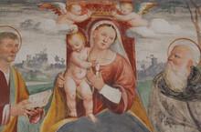Madonna Con Bambino Tra Due Sa...
