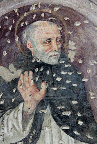 Photo San Tommaso d'Aquino; affresco nella chiesa dell'abbazia cistercense di Santa Ma