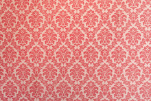 Red Wallpaper Vintage Flock Wi...