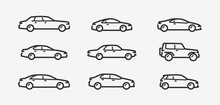 Car Icon Set. Transport, Trans...