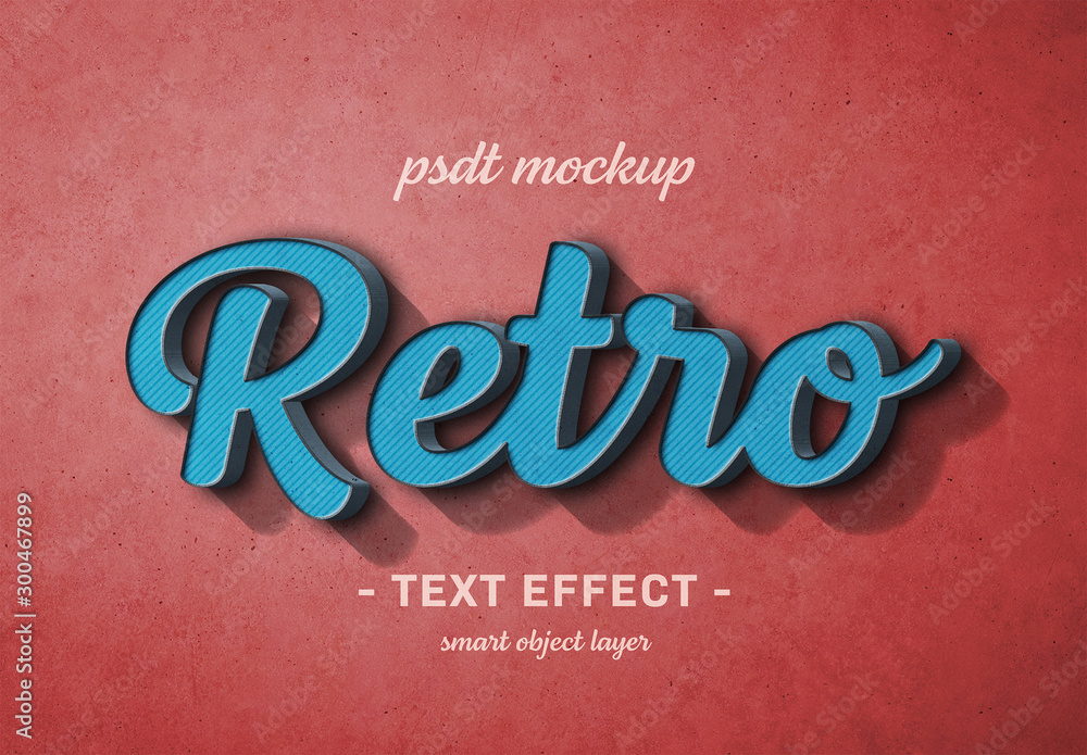 Fototapety, obrazy: Colorful Retro Text Effect
